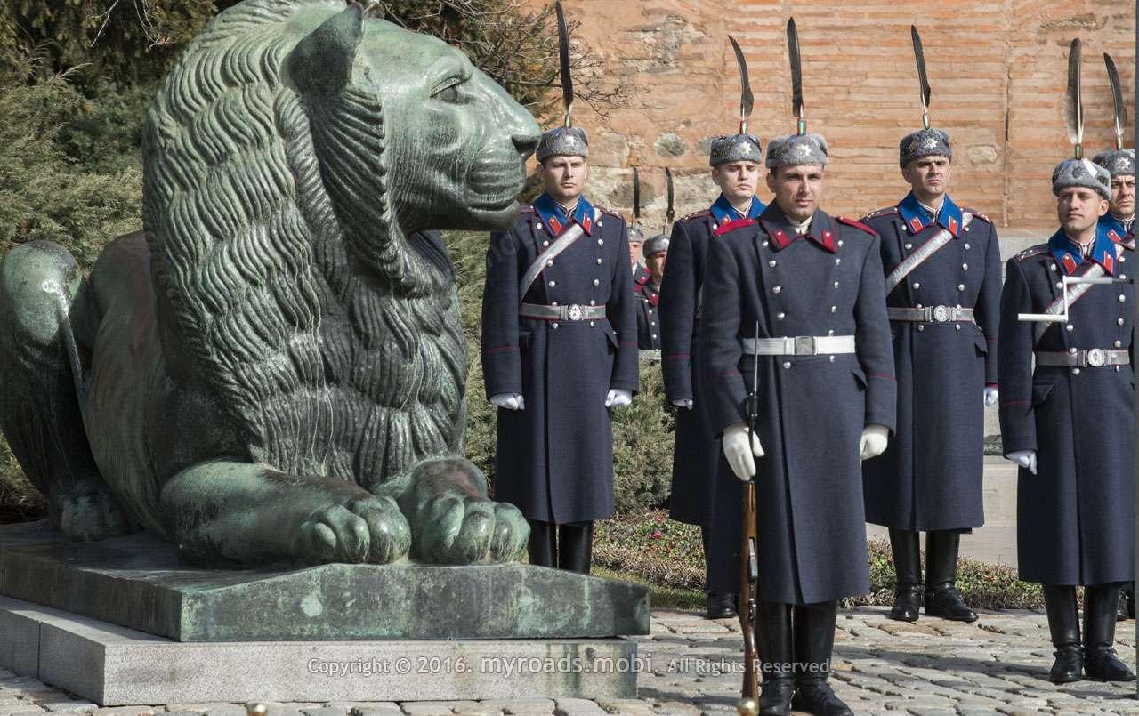 3-ти Март 2017, София. Церемония по издигането на националния флаг.