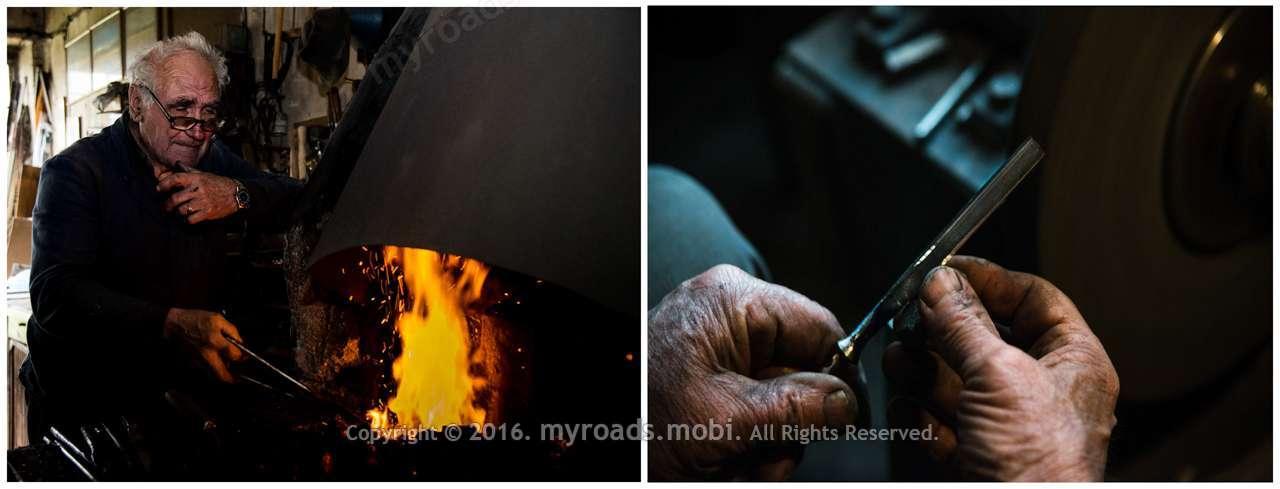 """""""Едно длето, за да реже добре, първо трябва да бръсне!"""" – Слави Гуевски – майстор на ковано желязо и инструменти за дърворезба."""