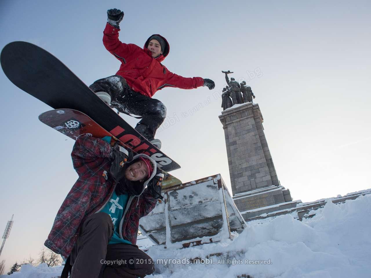 На сноуборд в центъра на София! + фотогалерия
